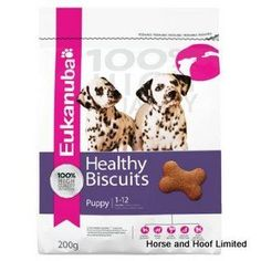 Eukanuba Puppy Healthy Biscuits 200g They help provide key nutrients in five performance areas and your puppy will love the great taste.
