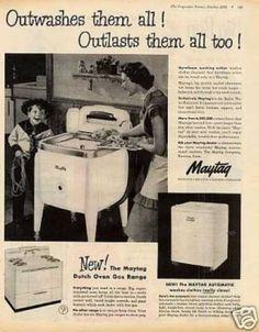 Vintage Household Ads of the (Page Old Advertisements, Retro Advertising, Vintage Soul, Vintage Ads, Vintage Images, Vintage Items, Old Washing Machine, Washing Machines, Vintage Kitchen Appliances
