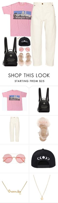 """Phases"" by oh-aurora ❤ liked on Polyvore featuring Versace, Lemaire, Topshop, Sunday Somewhere, Lee Renee, Laura Lee and Nayla Arida"
