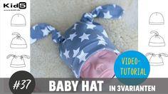 Babymütze in 3 Varianten ganz leicht selber nähen   DIY-Näh-Tutorial
