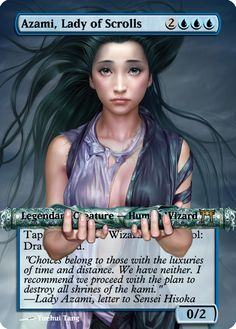 Magic The Gathering Azami, Lady of Scrolls Proxy