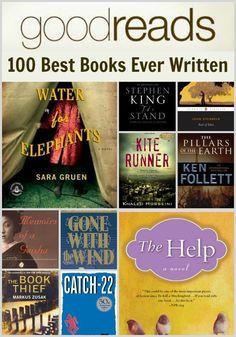 Good Reads 100 Best Books Ever Written  - Summer reading ideas