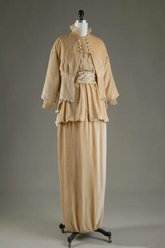 1913 Lucile suit (Fashion Institute of Technology Museum - New York City, New York USA) From pinterest.com:edwardiangaiety:fashion-1910-1920