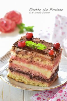 Italian Cake, Italian Desserts, Cappuccino Torte, Sicilian Recipes, Dessert Cake Recipes, Nutella, Sweet Cakes, Sans Gluten, I Foods