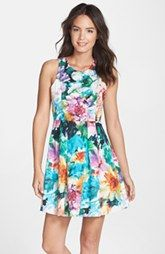 FELICITY & COCO Floral Print Fit & Flare Dress (Regular & Petite)(Nordstrom Exclusive)