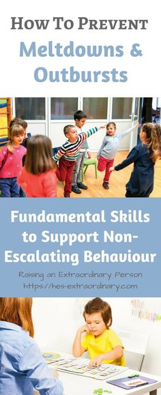 Preventing Outbursts - Supporting Non-Escalating Behaviour in Children #autism #adhd #odd #parenting