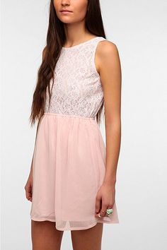 One & Only x Urban Renewal Lace Open-Back Dress