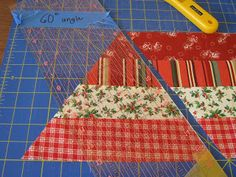 Love Laugh Quilt: holiday hexagon 60 degree tutorial