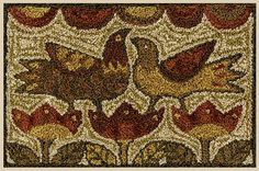 "TERESA KOGUT ""Two Birds""   Primitive Punch Needle Pattern and Weaver's Cloth…"