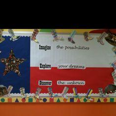 Texas public school week bulletin.( I know that unknown was misspelled)