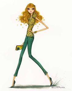 Green Jeans, Bella Pilar, Pilar Illustration