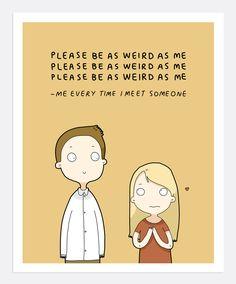 Weird As Me Print A4 | Lingvistov