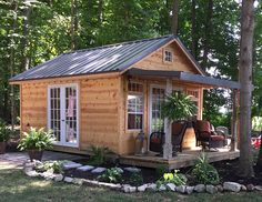 Garden Shed with Porch · Recreation . - Garden Shed with Porch · Recreation … - Shed Conversion Ideas, Tyni House, Shed With Porch, Diy Shed Plans, Home And Garden Store, Porch Garden, Patio, Backyard Sheds, Garden Sheds