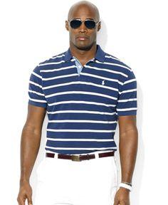 Polo Ralph Lauren Big and Tall Striped Mesh Polo