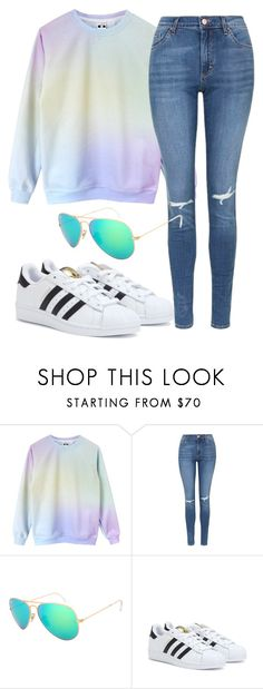 """Untitled #296"" by norastyles ❤ liked on Polyvore featuring Topshop and adidas"