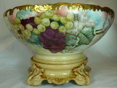 Antique T & V Limoges Punch Bowl, 1900
