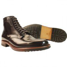 8f602b81055 Alden Men s D5825C - 9 Eyelet Plain Toe Commando Sole Boot - Color 8 Shell  Cordovan