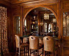 tudor style home bar - Google Search