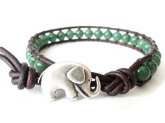 Featuring the bestselling elephant button as closure, this design contains wonderful African jade known for its sumptuously rich shades of