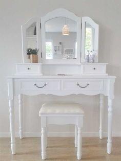schminktisch weiss frisiertisch louis landhaus kaufen. Black Bedroom Furniture Sets. Home Design Ideas