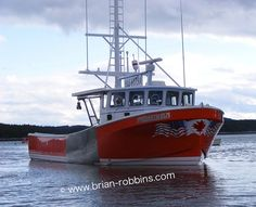 """The 46'8""""x15' Prometheus, owned by Fred Backman of Winter Harbor, ME. Prometheus is a modified version of a 43'8"""" hull from Long Beach Boatbuilders, Cape Breton, Nova Scotia, Canada."""