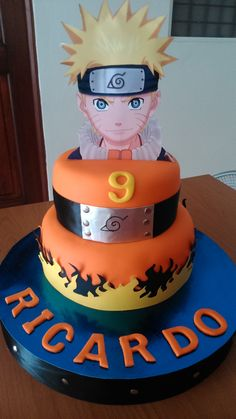 Naruto birthday cake - Ideas by Farafa Naruto Birthday, Ninja Birthday Parties, 12th Birthday, Baby Birthday, Bolo Do Naruto, Naruto Party Ideas, Anime Cake, Bithday Cake, Character Cakes
