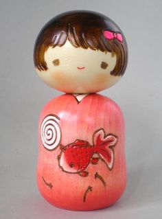 Japanese Kokeshi Doll- Goldfish