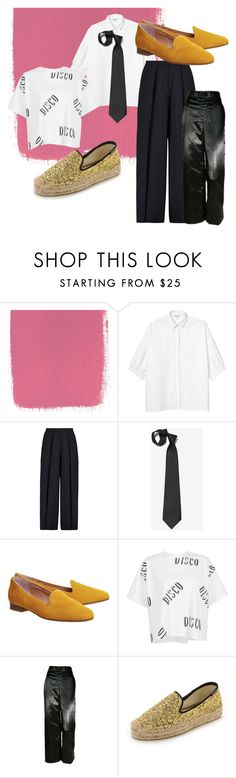 """""""Poppers"""" by magdalena-malajka on Polyvore featuring Monki, Iris & Ink, Office, Bundy & Webster i Soludos"""