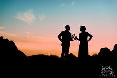 Valley of Fire Silhouette #ValleyofFireWeddings #desertwedding