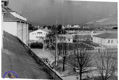 1950 image. Wow this is the oldest image I've seen of the old Kaserne. View from the room that I use to bunk in (1969) too!