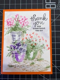 Art Impressions Stamps, Watercolor Cards, Greeting Cards Handmade, Watercolors, Flags, Pots, Coloring, Drawings, Inspiration