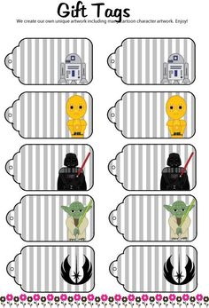 Star Wars Gift Tags Check out more geek stuff at www.geekgenesis.com, a place for geek