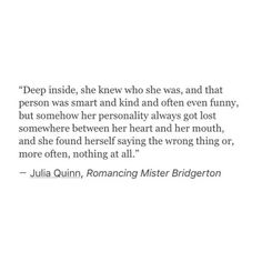 She knew who she was