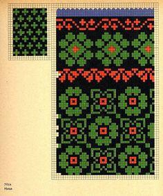 FolkCostume&Embroidery: Knitted Mittens of Nica, Kurzeme province, Latvia Knitted Mittens Pattern, Knit Mittens, Knitting Socks, Hand Knitting, Fingerless Mittens, Loom Knitting, Knitting Charts, Knitting Stitches, Knitting Patterns Free