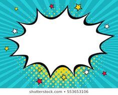 Empty comic speech bubble with dots and stars. Vector colorful background in pop art retro comic style. - Comprar este vetor do stock e explorar vetores semelhantes no Adobe Stock Rosie The Riveter, Desenho Pop Art, Pop Art Women, Class Decoration, Hippie Art, Comic Styles, Printable Designs, Artist Art, Textured Background