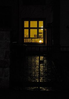 Looking through night windows to the golden glow inside... Coming home... (IV) by dididumm