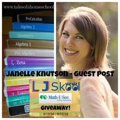 Janelle Knutson - Math-U-See Giveaway Week - LJSkool.com