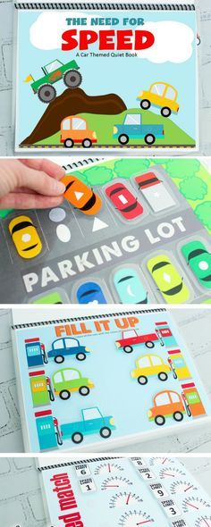 Cars Themed Printable Quiet Book - Cars Book The Printable Mot .Cars Themed Printable Quiet Book - Cars Book The Printable Motto Printable Easter Quiet Book - exercise book for Pre-K and KPrintable Easter Quiet Activity Books For Toddlers, Quiet Time Activities, Infant Activities, Quiet Book For Toddlers, Diy Toys For Toddlers, Printable Activities For Kids, Summer Activities, Family Activities, Learning Activities