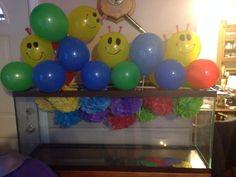 Baby einstein caterpillar balloons