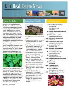 Newsletter | KEY Real Estate News – March 2015   In this issue of Key News get our monthly overview of the NW Real Estate Market, a guide to area NW Activities, an event calendar for the month of March, Guide to Area St. Patricks Day Events here in the Seattle area and Current Mortgage Rates….Check It Out!