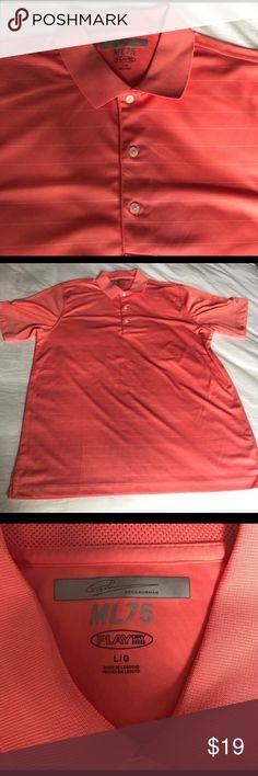 Men's Greg Norman ML 75 golf shirt Men's Greg Norman ML 75 golf shirt. Orange/Salmon colored. Greg Norman Shirts