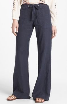 Holy Ivory....the whole look....Joie Wide Leg Linen Pants available at #Nordstrom