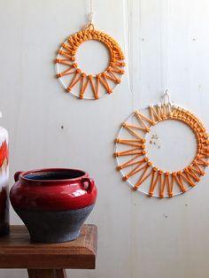 Inspirational DIY Anleitung Runde Makramee Wanddeko selber machen via DaWanda
