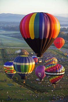 The Adirondacks: Location: hot air balloon launch