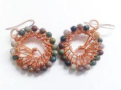 indian agate earrings handmade earrings ethnic earrings