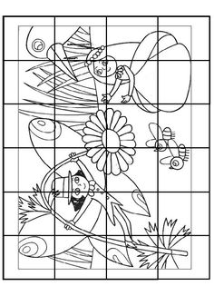 Activities For Kids, Fairy Tales, Puzzle, Language, Drawings, Color, Geometry, Puzzles, Children Activities