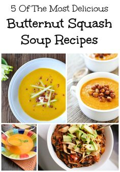 Fall has me dreaming of warm and comforting soups.  We have rounded up five of the most delicious butternut squash soup recipes for your dinner table.