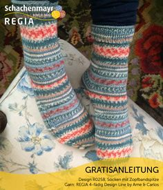 Free pattern for knitted short socks made in Regia Design Line Sock Yarn by Arne and Carlos Requires only 2 x balls see related items below for Free Knitting Patterns Uk, Free Pattern, Crochet Patterns, Knitting Videos, Knitting Projects, Arne And Carlos, Patterned Socks, Knitting Socks, Knit Socks