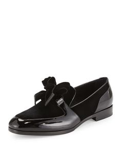 Fred+Men\'s+Formal+Patent+Leather+Shoe+with+Velvet,+Black+by+Jimmy+Choo+at+Neiman+Marcus.
