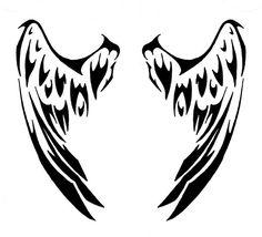Tribal Angel Wing Drawings